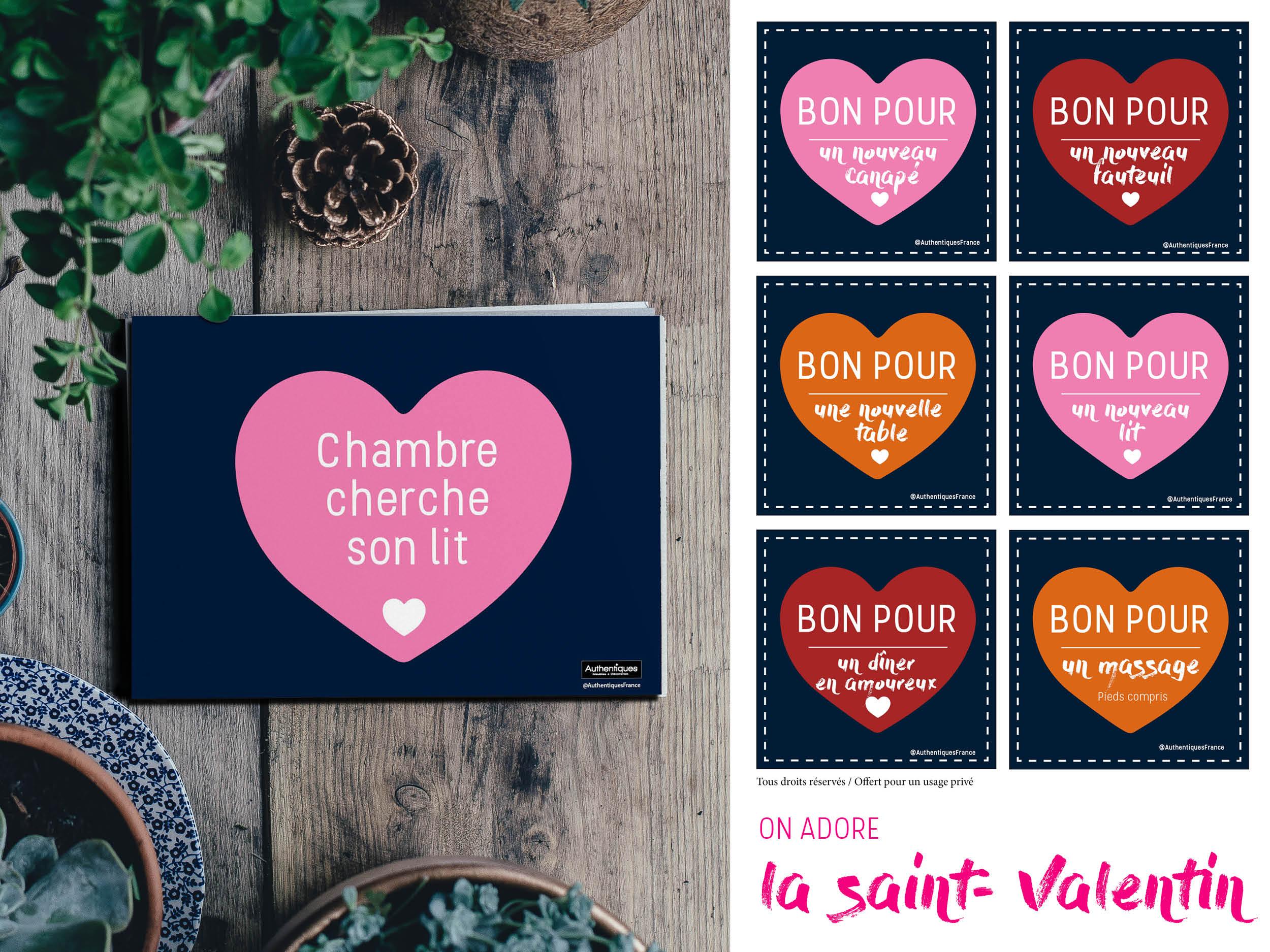 Authentiques-saint-Valentin-cartes